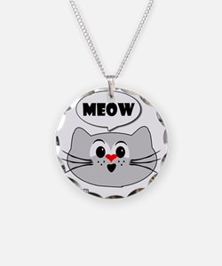 meow love cats Necklace