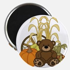 Autumn design with Pumkins and Teddy Bear Magnet