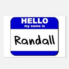 hello my name is randall  Postcards (Package of 8)