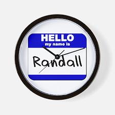 hello my name is randall  Wall Clock