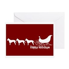 "Staffie ""Sleigh"" Greeting Cards (Pk of 10)"