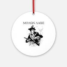 Molon Labe Minuteman Ornament (Round)