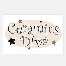 """Ceramics Diva"" [brown] Postcards (Package of 8)"