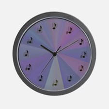 TwelveToneClockBasicPurple.jpg Wall Clock