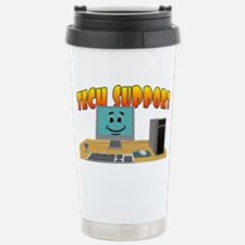 Happy Tech Support Stainless Steel Travel Mug
