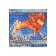 "Star Sign Leo square Square Sticker 3"" x 3"""