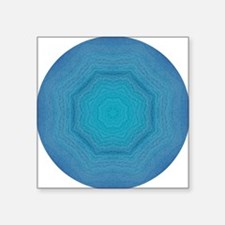 "St. Maarten Ocean Swirls Square Sticker 3"" x 3"""