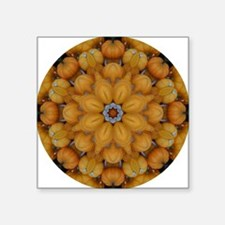 "Pumpkin Mosaics Square Sticker 3"" x 3"""