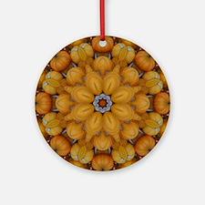 Pumpkin Mosaics Round Ornament