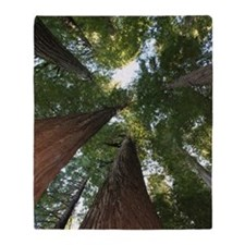 California Giant Redwoods Throw Blanket