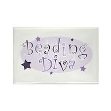 """Beading Diva"" [purple] Rectangle Magnet"