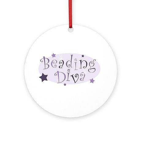 """Beading Diva"" [purple] Ornament (Round)"