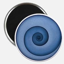 spiral-blue-T Magnet