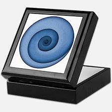 spiral-blue-T Keepsake Box