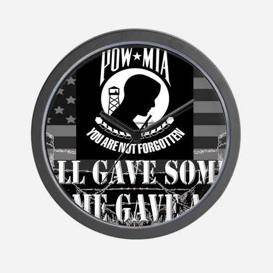 Pow-Mia All Gave Some Some Gave All Wall Clock