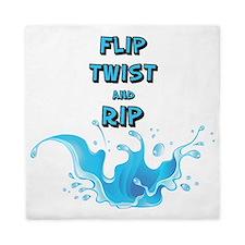 FLIP TWIST AND RIP Queen Duvet