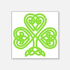 "Cute Celtic clover Square Sticker 3"" x 3"""