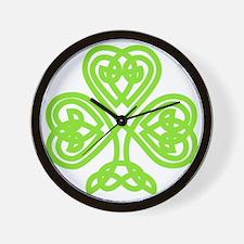 Cute Celtic clover Wall Clock