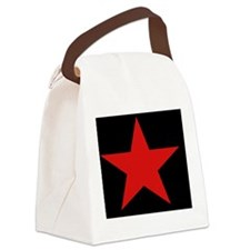 Red Star Woven Blanket Canvas Lunch Bag