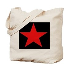 Red Star Woven Blanket Tote Bag