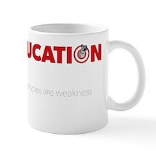 Education is Strength - Black Mug