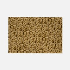 Spotted Leopard Woven Blanket Rectangle Magnet