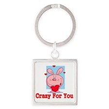 Crazy for you Square Keychain