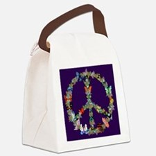Butterfly Peace Sign Blanket 1 Canvas Lunch Bag