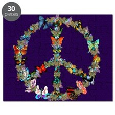 Butterfly Peace Sign Blanket 1 Puzzle
