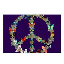 Butterfly Peace Sign Blan Postcards (Package of 8)