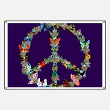 Butterfly Peace Sign Blanket 1 Banner