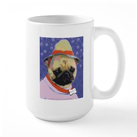 Pugsley Sad Pug Large Mug