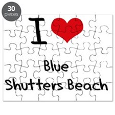 I Love BLUE SHUTTERS BEACH Puzzle