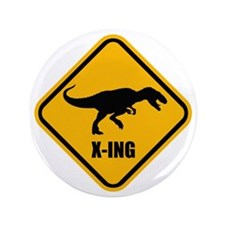 "T-rex crossing 3.5"" Button"