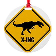 T-rex crossing Ornament