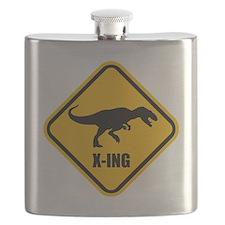 T-rex crossing Flask