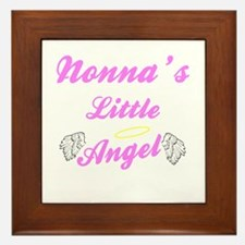 Nonna's Little Angel (Girl) Framed Ceramic Tile