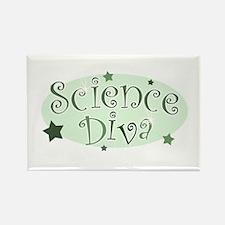 """Science Diva"" [green] Rectangle Magnet"
