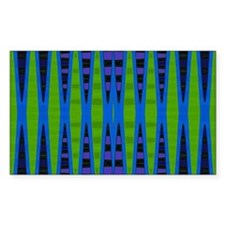 Blue Green Abstract Decal