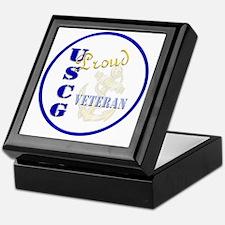 Proud USCG Veteran Keepsake Box