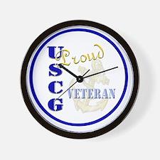 Proud USCG Veteran Wall Clock