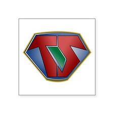 "Super Tech Support - dk Square Sticker 3"" x 3"""