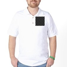 fleur de lis square white black T-Shirt