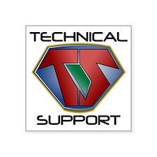 "Super Tech Support - lt Square Sticker 3"" x 3"""