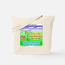 Ants Meet Aliens Tote Bag
