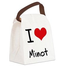 I Love MINOT Canvas Lunch Bag