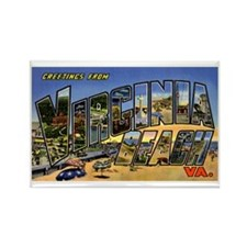 Virginia Beach Greetings Rectangle Magnet