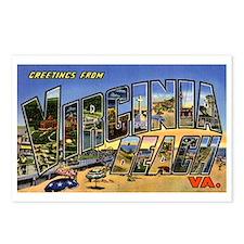 Virginia Beach Greetings Postcards (Package of 8)