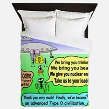 Ants Meet Aliens Queen Duvet