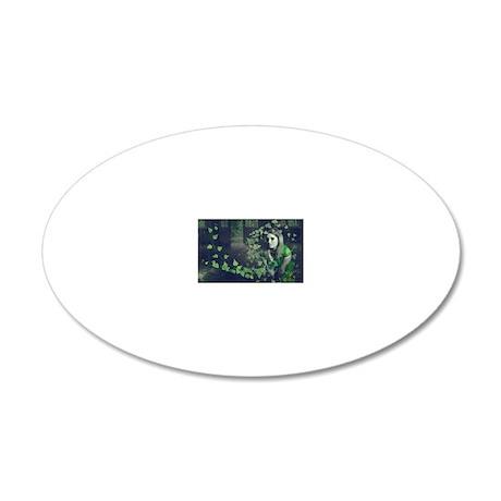 Spun Ivy 20x12 Oval Wall Decal